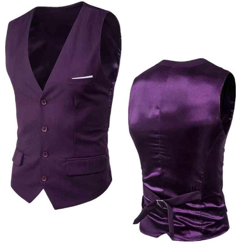 Spring Slim Fit Sleeveless, Waistcoat - Mens Formal Business, Wedding Dress