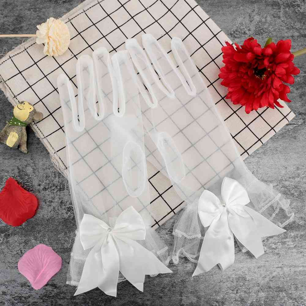 Women's  Lace Pattern Short  Wedding Gloves