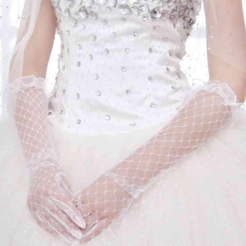 Women Lace Bridal Long Gloves