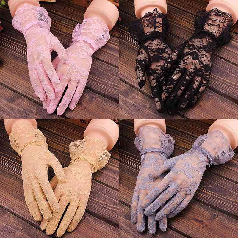 Elegant Style Sun Protection Lace Hollow-out Gloves