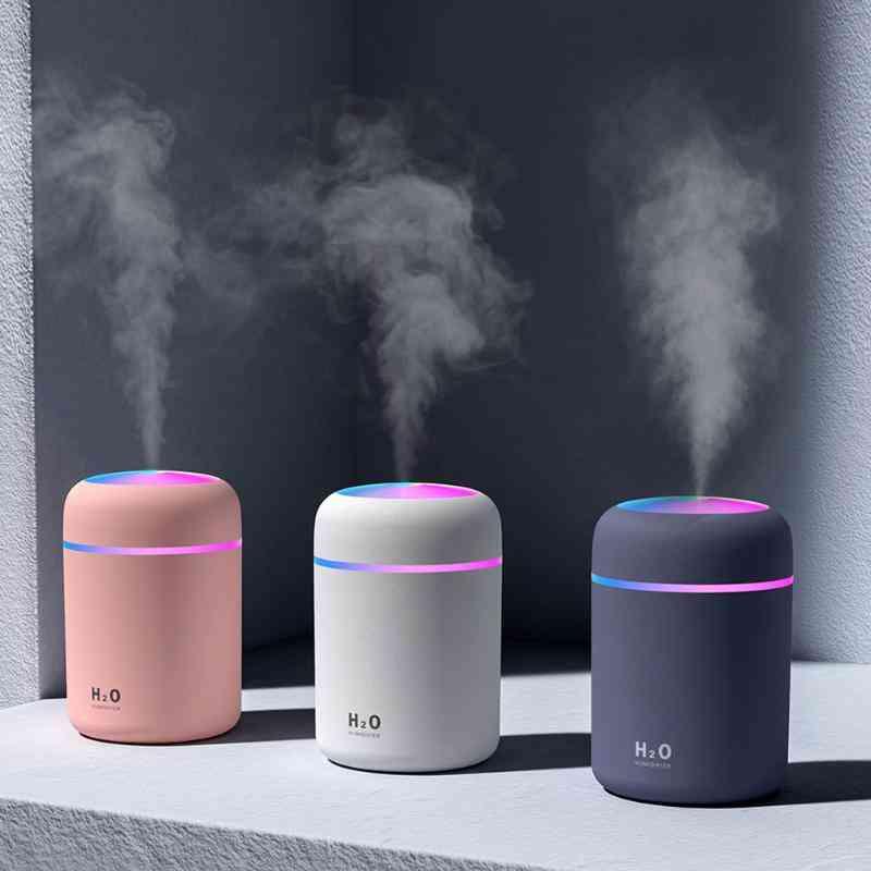 300ml Air Humidifier, Usb Ultrasonic, Aroma Essential Oil, Diffuser