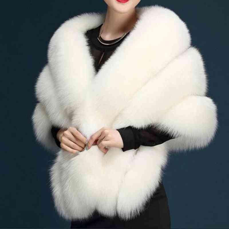 Shawl Faux-fur Wrap, Bolero Wedding, Bridal Cape