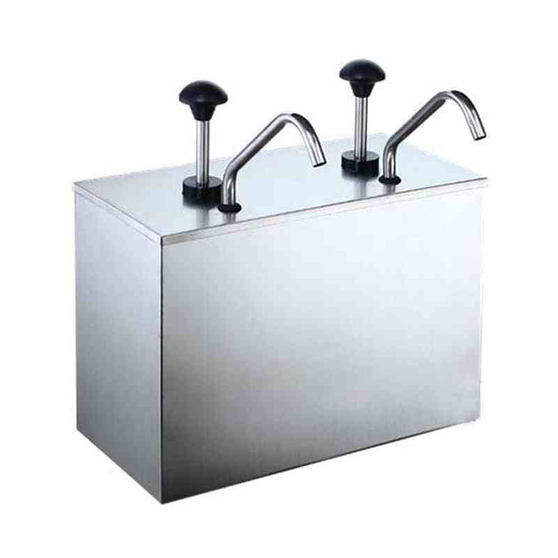 Double Head Stainless Steel Squeezing Sauce Bottle Pump