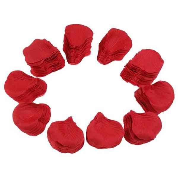 500pcs- Lifelike Fake, Silk Red Rose, Petals Decorations For Wedding (red-500pcs)