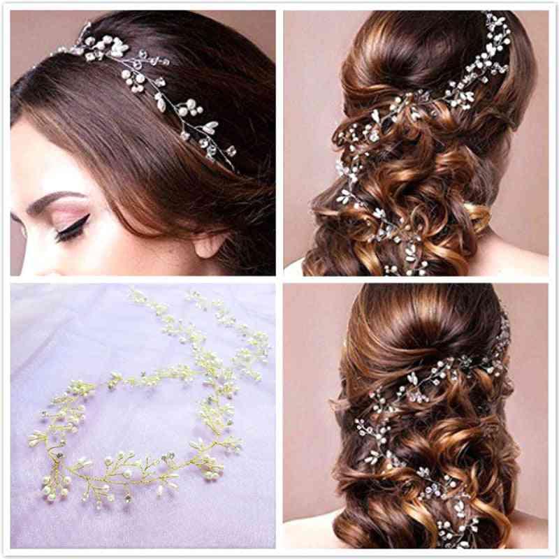 Crystal Pearl Hair Belt Wedding Bridal Hair Ornaments Bridal Headwear Decorations