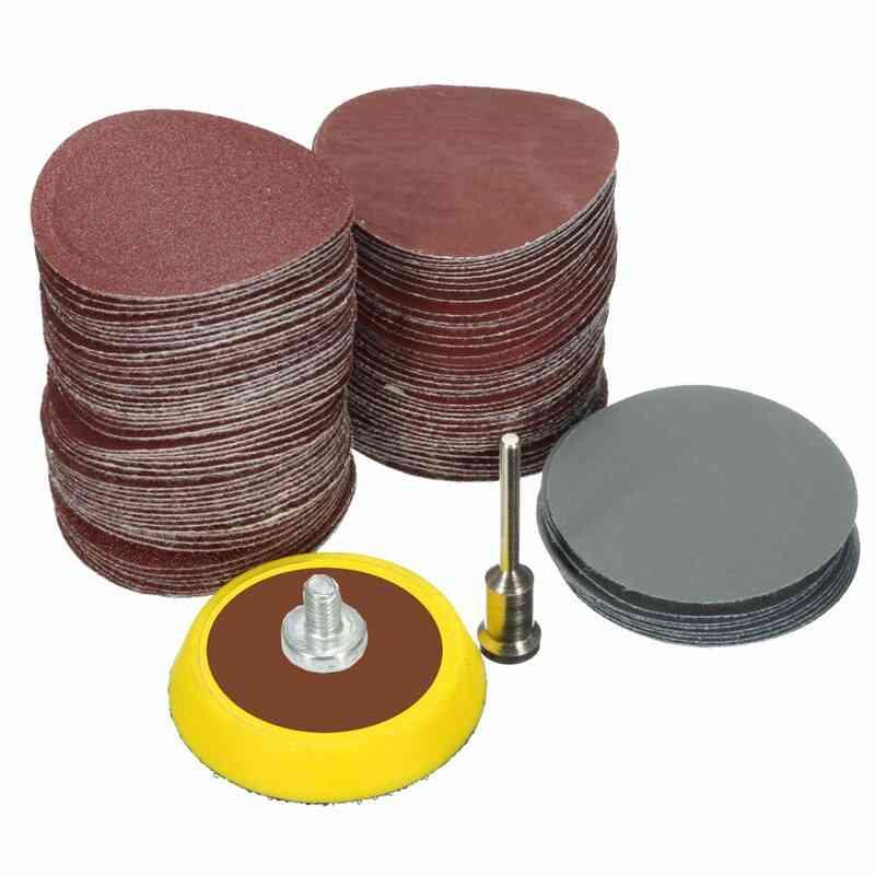 Sandpaper- Hook Loop, Backer Plate, 1/8inch Shank & Loop Sanding Pad