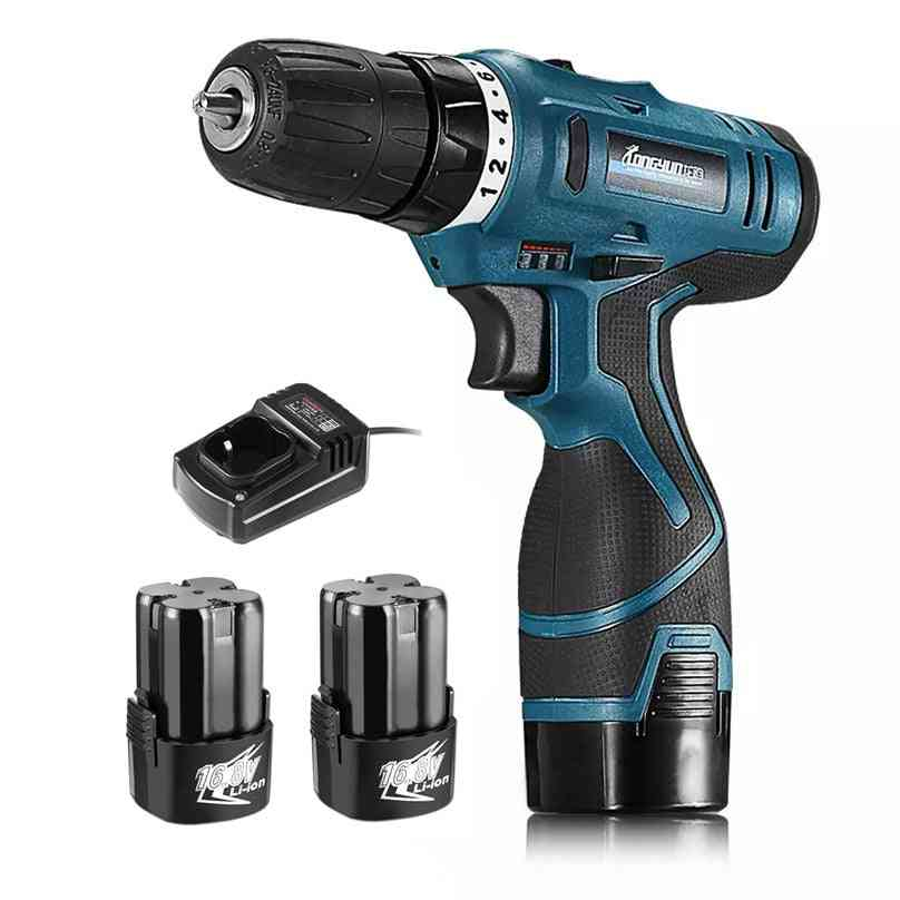 16.8v, Lithium-ion Battery Screwdriver, Electric Drill Hole And Hand Driver, Wrench Power Tools