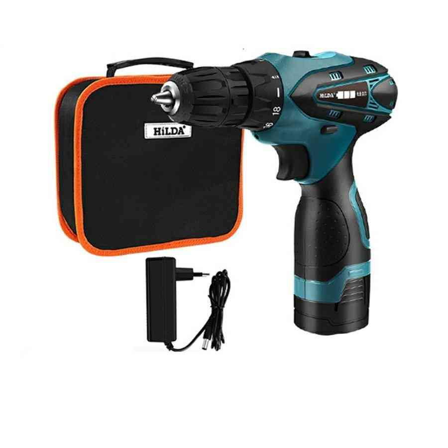 Electric Drill Lithium Battery - Mini Cordless, Screwdriver Power Tools