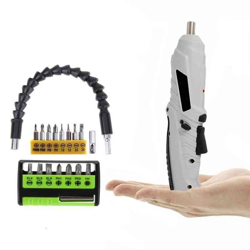 Electric Screwdriver, Shape-shifting Power, Rechargeable Lithium Battery With Two-way Switch