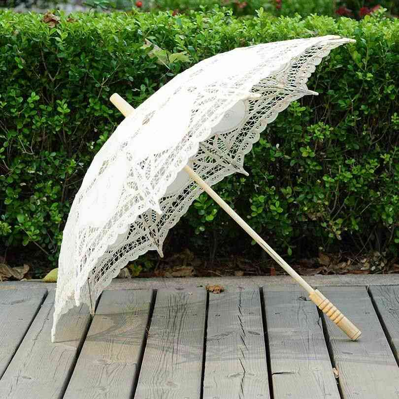 Lace Craft Umbrella Cotton Decoration Wedding Photography Props Embroidery