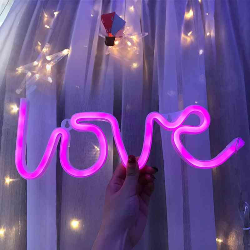 Love Wedding Decoration Pastry Display Home Decor Flex Led Neon Sign Light