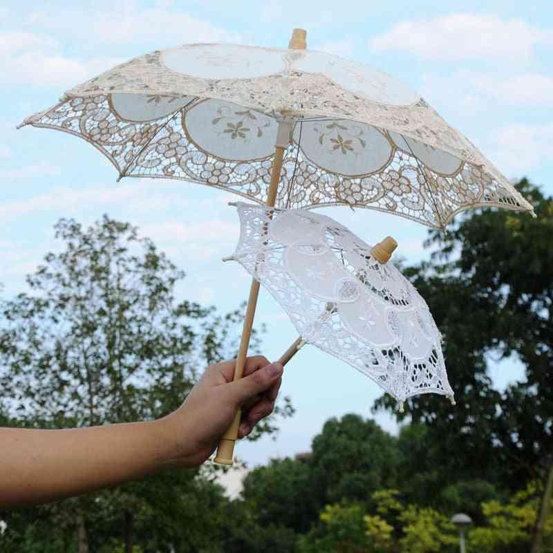Vintage Lace Umbrella For Wedding Decoration/photography