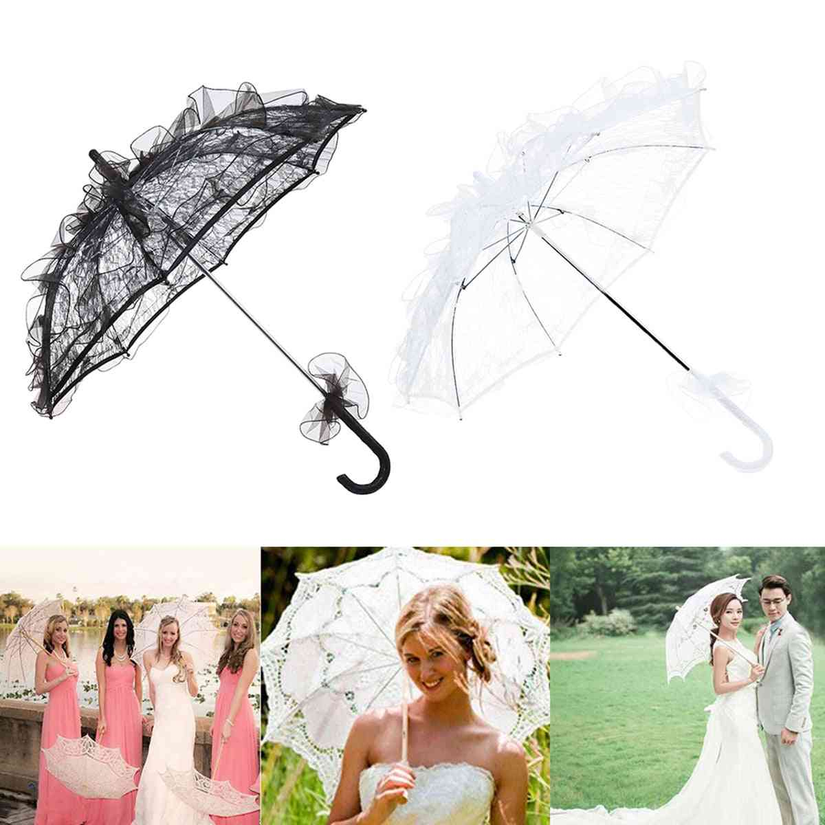 Western Style Lace Umbrella Lace For Bride/decoration