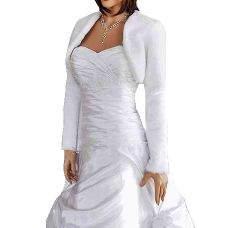 Faux Fur Wedding Wraps With Long Sleeves- Bridal Jackets