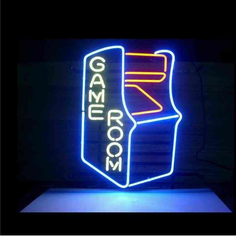 Game Room, Arcade Glass Neon Light Sign