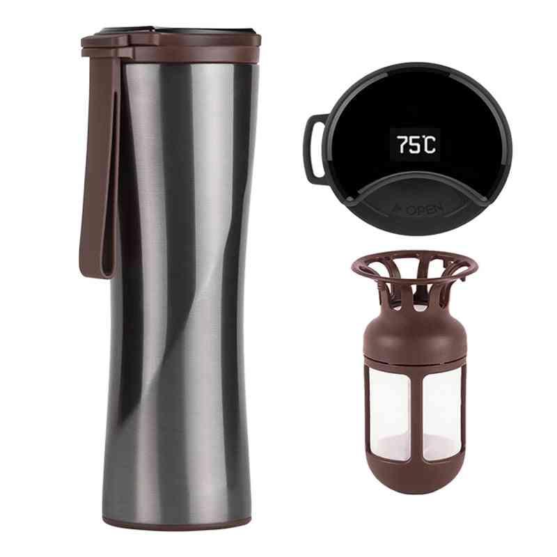 Travel Mug, Moka Smart Coffee Tumbler, Portable Vacuum Bottle