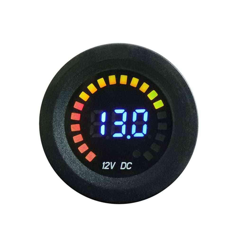 Dc 12v Universal Car Motorcycle Boat Led Digital Voltmeter Panel Volt Meter