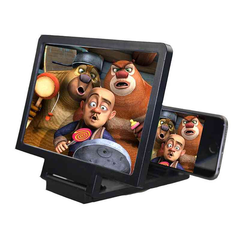 Hd Mobile Phone Screen Magnifier, Stend Enlarged Screens