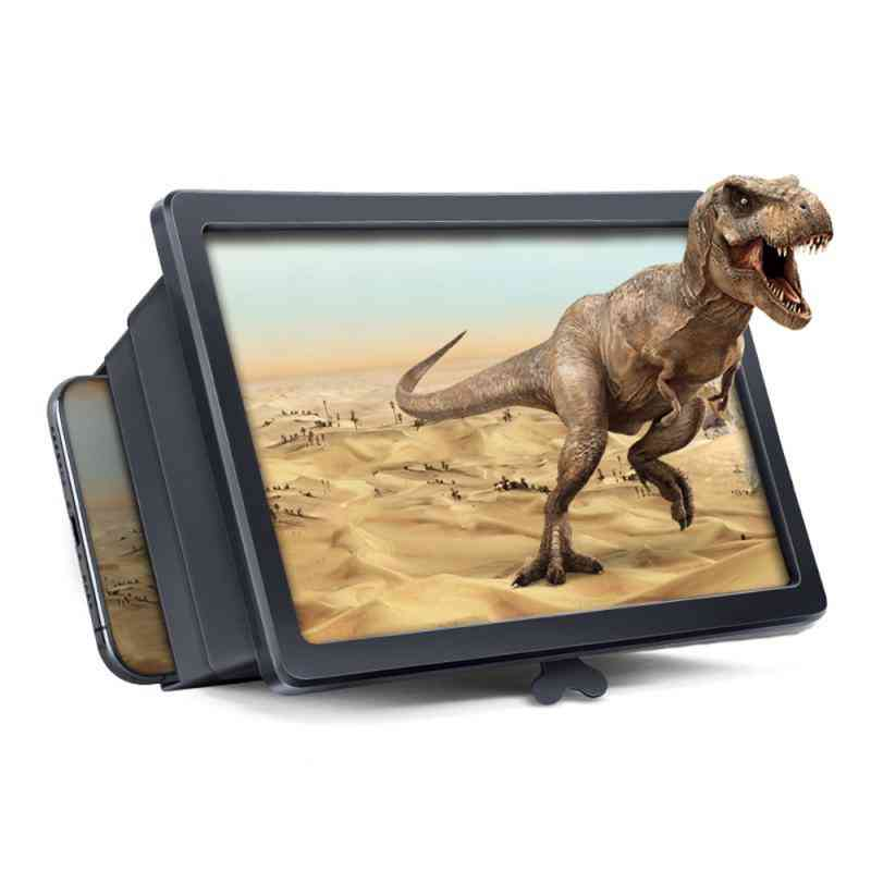 Mobile Phone Screen Magnifier - 3d Projector Display, Enlarged Stand Holder