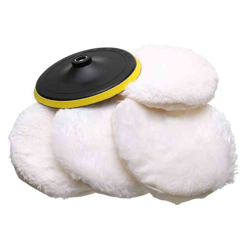 Polisher Buffer Kit, Soft Wool Bonnet Pad For Car Body Polishing Discs