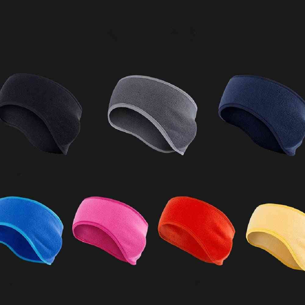 Winter Fleece Earband Stretchy Headband Earmuffs Ear Warmerss & Womens