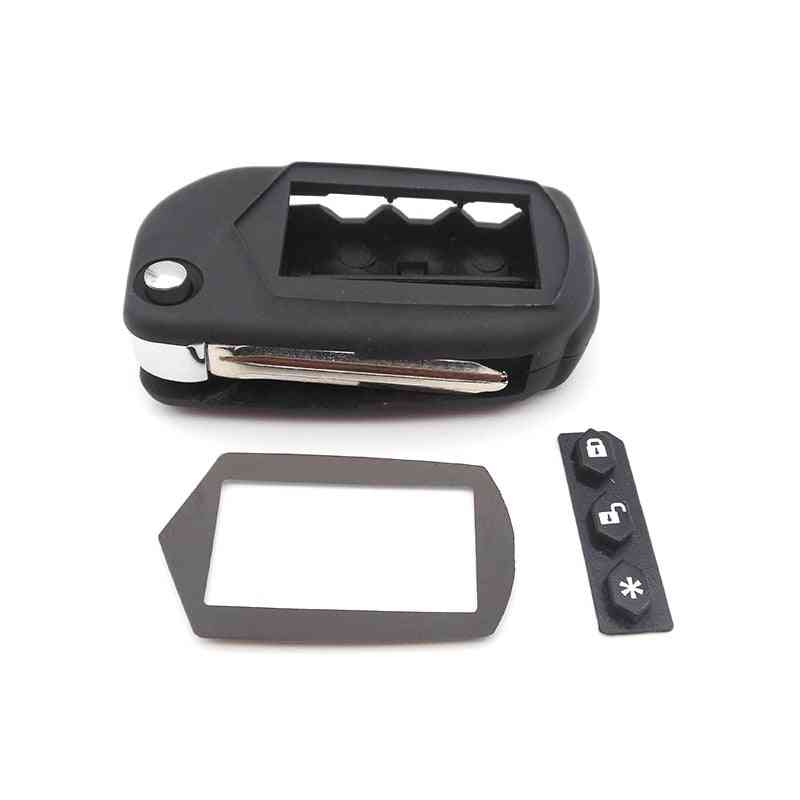 Remote Control- Keychain Starline, Uncut Blade, Fob Case Cover, Folding Car Flip