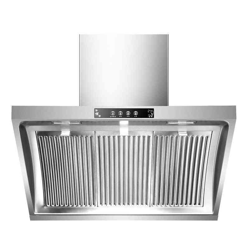 Household Range Hood, Side Suction Stainless Steel Panel Hanging Smoke