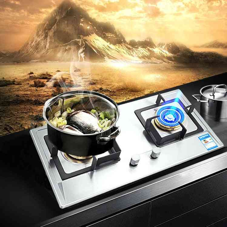 Stainless Steel Gas Dual Cooker