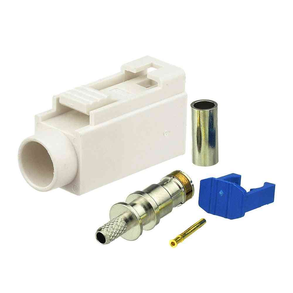 Car Radio With Phantom Antenna, Connector Jack Crimp For Cable