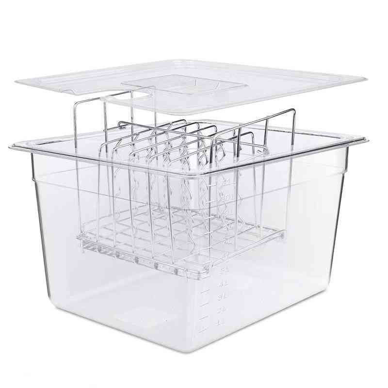 Stainless Steel Detachable Divider Racks And Containers For Immersion Circulators