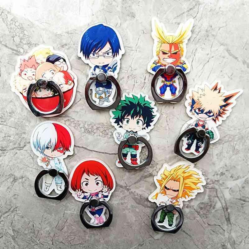 Anime My Hero Academia Finger Ring Mobile Phone Stand Holder