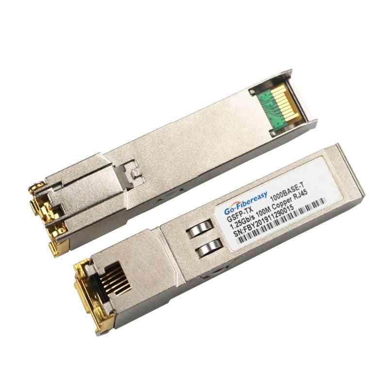 Fiber Optic Transceiver 1000base-t Sfp Rj45 Copper Module For Cisco/mikrotik