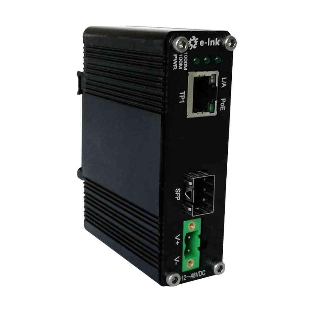 Mini Industrial Media Converter, Gigabit, Poe, Sfp
