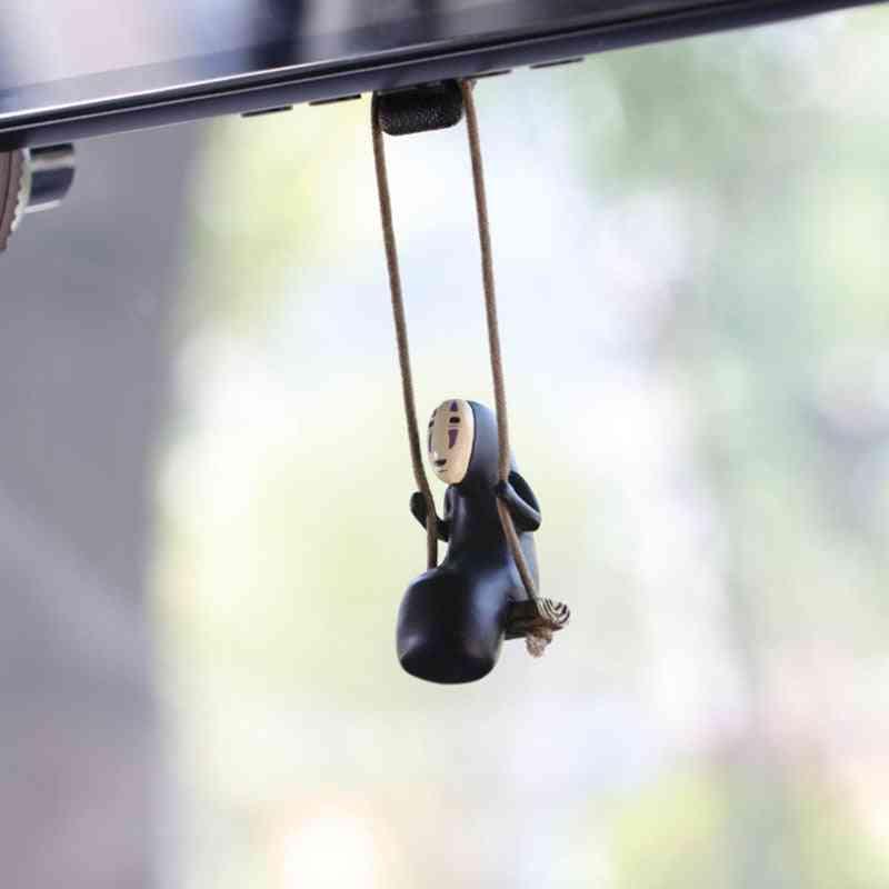 Cute Anime Car Ornaments-faceless Male Pendant