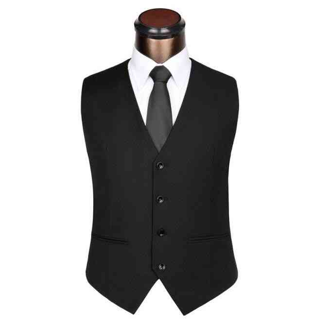 Men's Wedding, Formal Slim Fit Dress Vests, Waistcoat Jacket