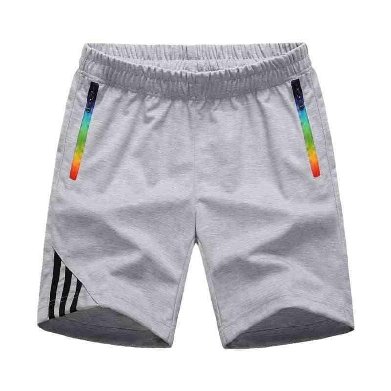 Summer Casual, Shorts Sportswear, Zipper Pocket, Striped Trousers's