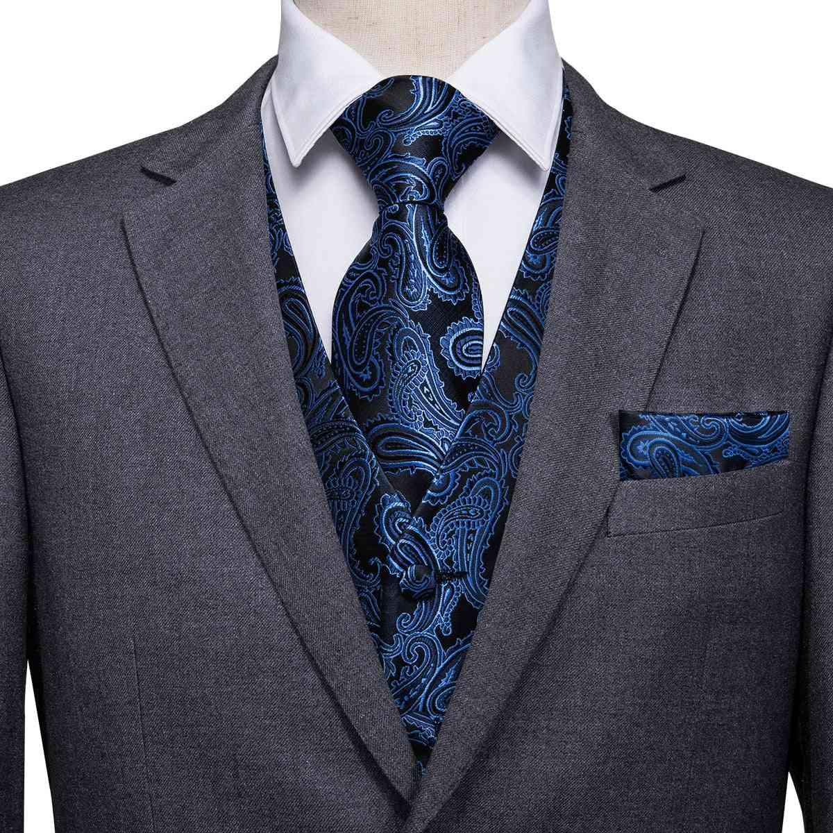Silk- Jacquard Suit, Vest, Waistcoat, Wedding Jacket's