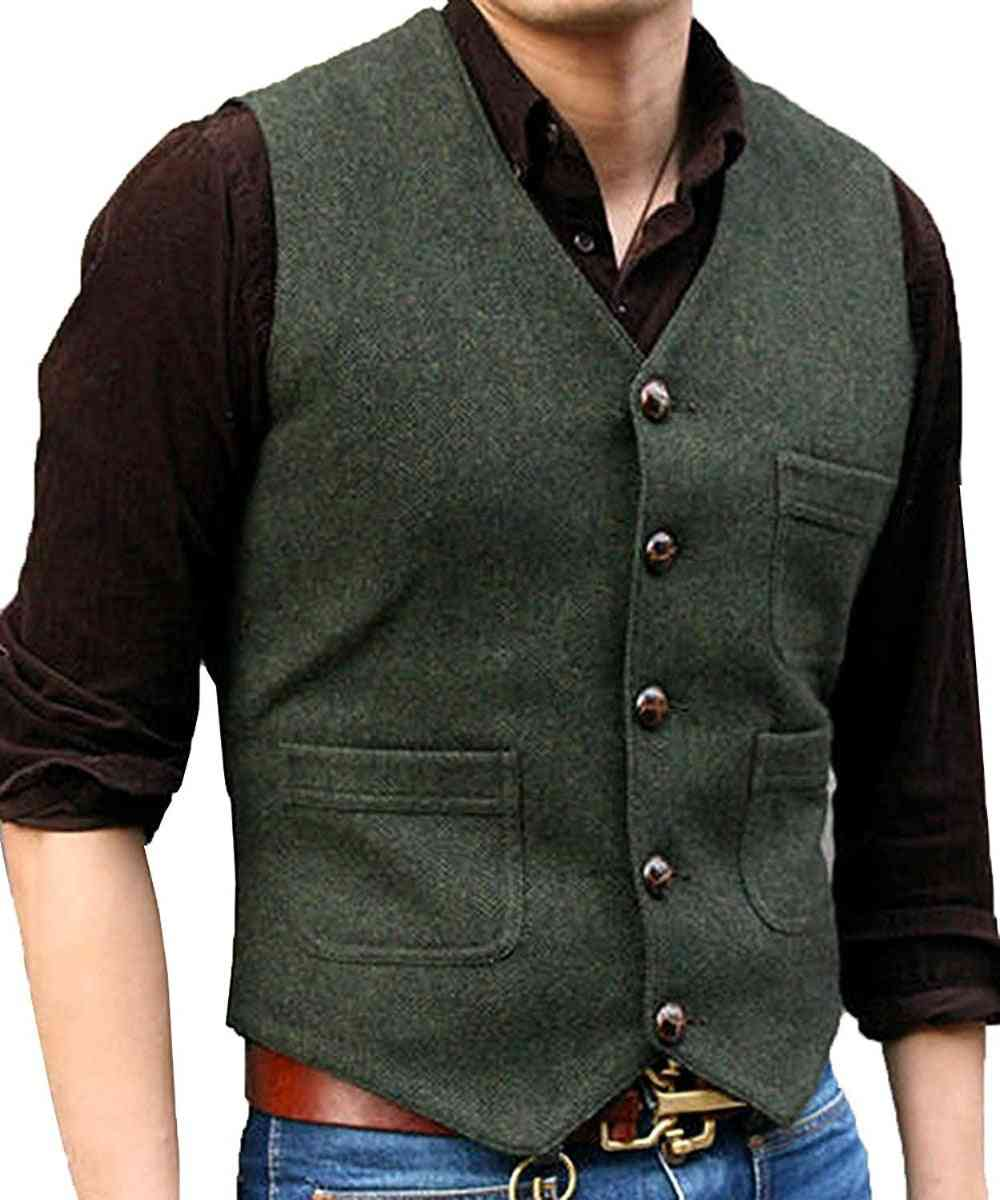 Casual Suit V-neck, Wool Waistcoat's