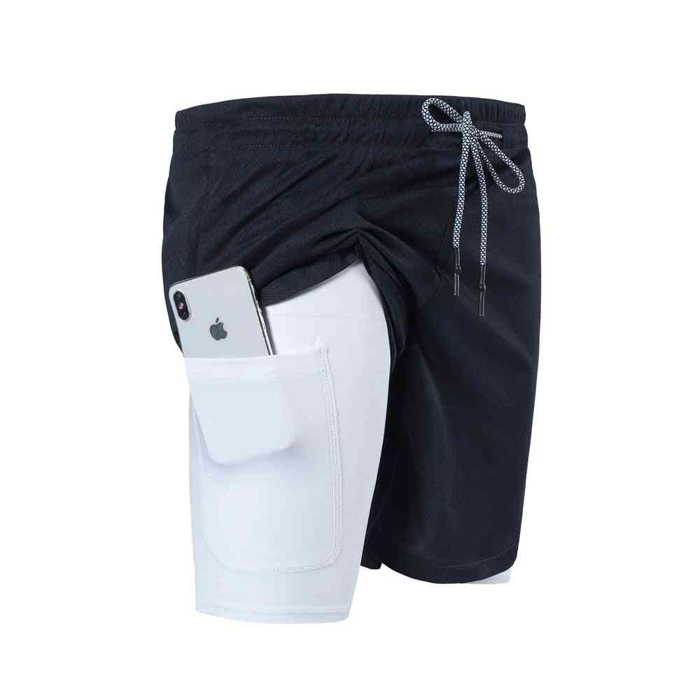 2-in-1 Multi-pocket Zip, Joggers Gyms Fitness, Shorts Pants's