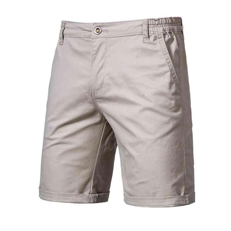 Summer- Casual Cotton, Elastic Waist, Beach Shorts