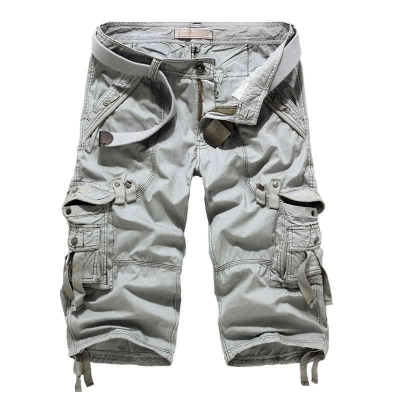 Casual Multi-pocket, Cargo Military, Shorts Pants