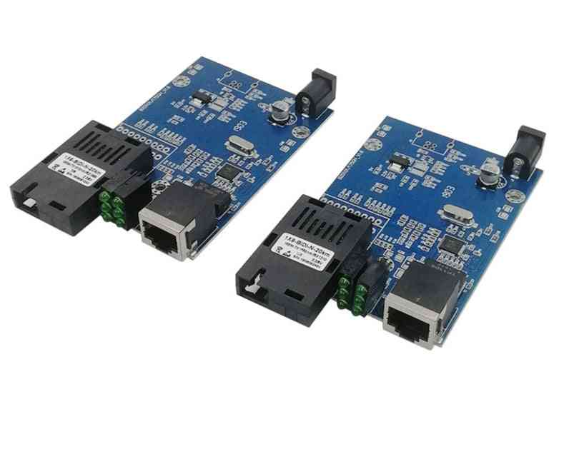 Media Converter Fiber Optical To Ethernet Switch Pcba