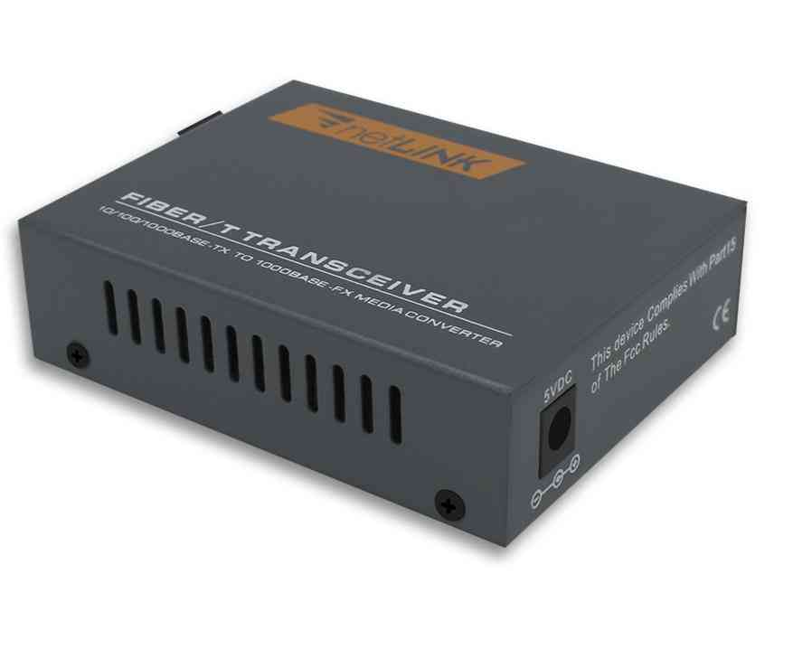 Gigabit Fiber Optical Media Converter Single Mode External Power Supply