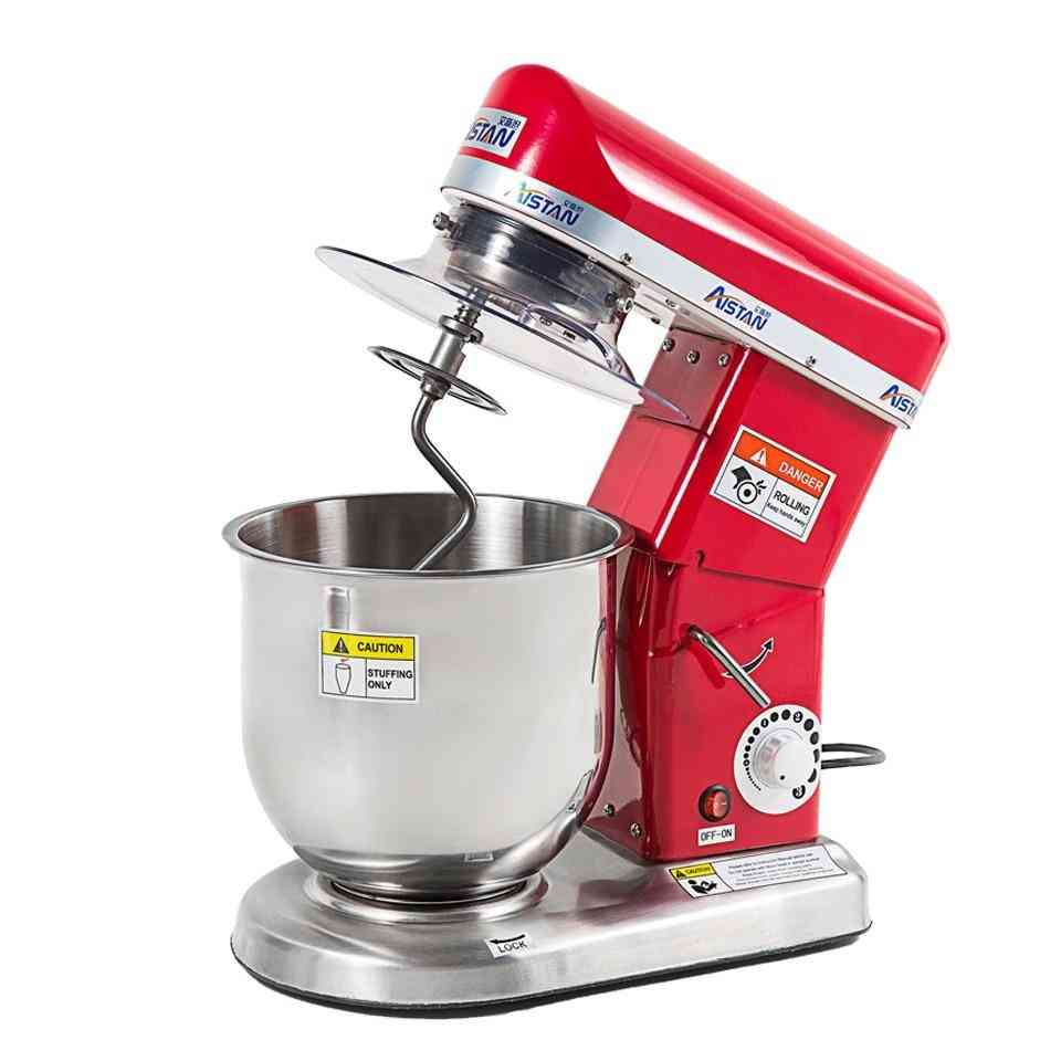 Planetary Pizza Dough Stand Mixers Food Processor For Cake Bread With Bowl Cover Hook Whisk