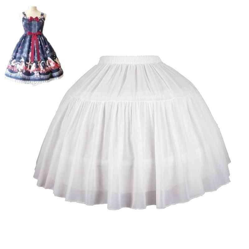 Women's Lolita Petticoat Bridal Cosplay Party Prom Dress Short Underskirt