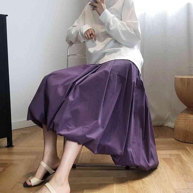 A-line Bud Skirt, Autumn Beautiful Loose Vintage Bottoms Women's Clothes