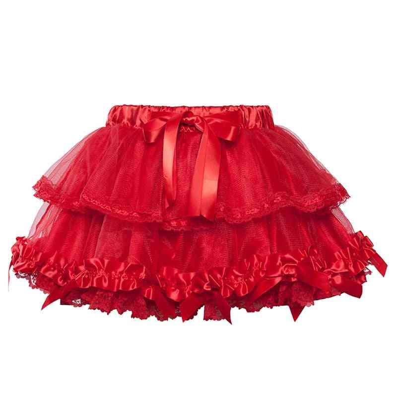 Summer Lolita Lace Mini Skirts, Women Burlesque Tulle