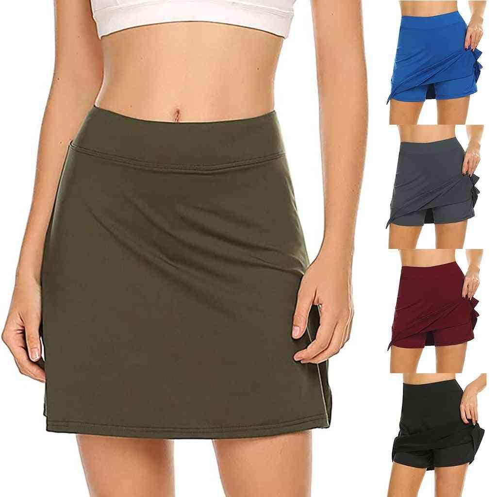 Women Short Quick Dry Sport Badminton Wear Skirt Lightweight Tennis Cheerleaders Clothing