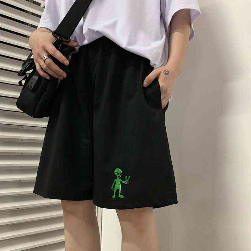 Vintage Casual, Tide Aliens, Loose-straight, Jogger Shorts