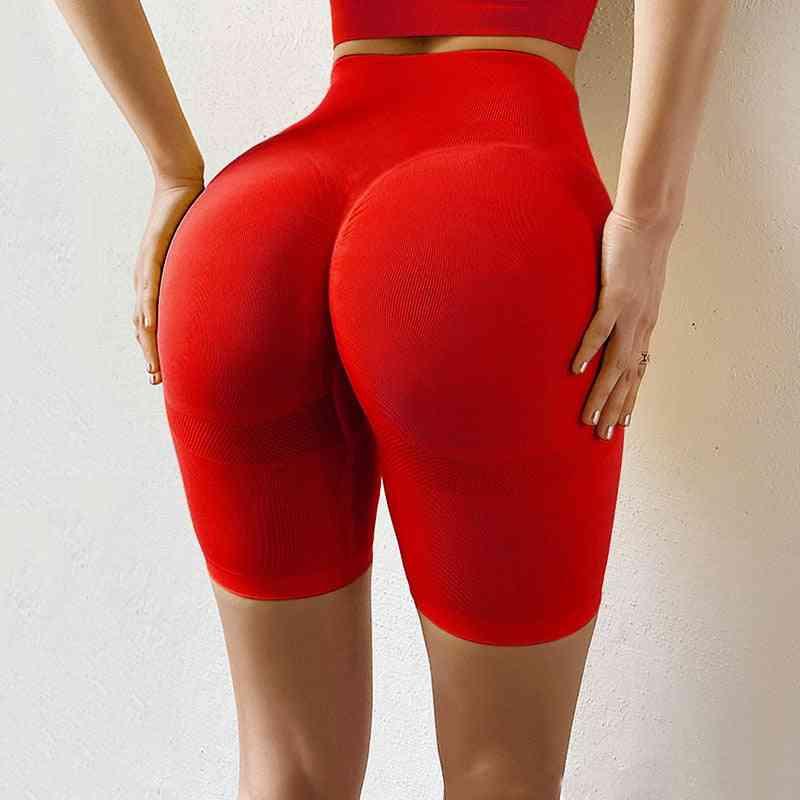 Casual Seamless, Push-up, High-waist, Fitness Slim Shorts